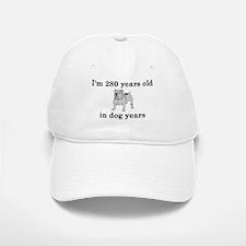 40 birthday dog years bulldog 2 Baseball Baseball Baseball Cap