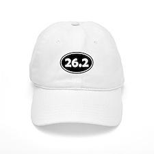Black 26.2 Oval Baseball Baseball Baseball Cap