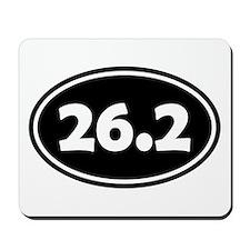Black 26.2 Oval Mousepad