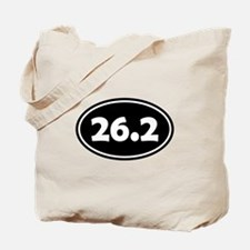 Black 26.2 Oval Tote Bag