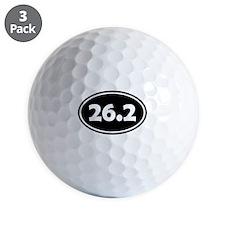 Black 26.2 Oval Golf Ball