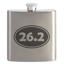 Black 26.2 Oval Flask
