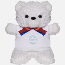 Best Man in blue Teddy Bear