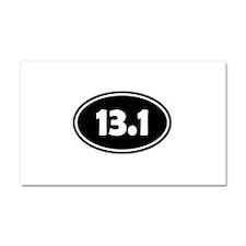 Black 13.1 Oval Car Magnet 20 x 12