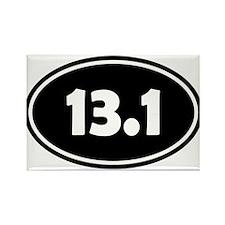 Black 13.1 Oval Magnets