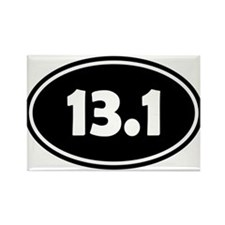 Black 13.1 Oval Magnets