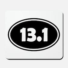 Black 13.1 Oval Mousepad