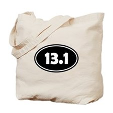 Black 13.1 Oval Tote Bag