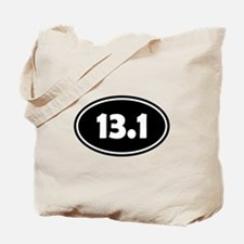 Black 13.1 Oval Tote Bag