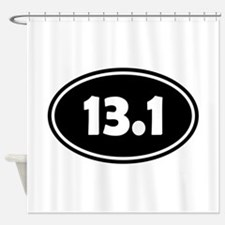 Black 13.1 Oval Shower Curtain