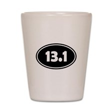 Black 13.1 Oval Shot Glass