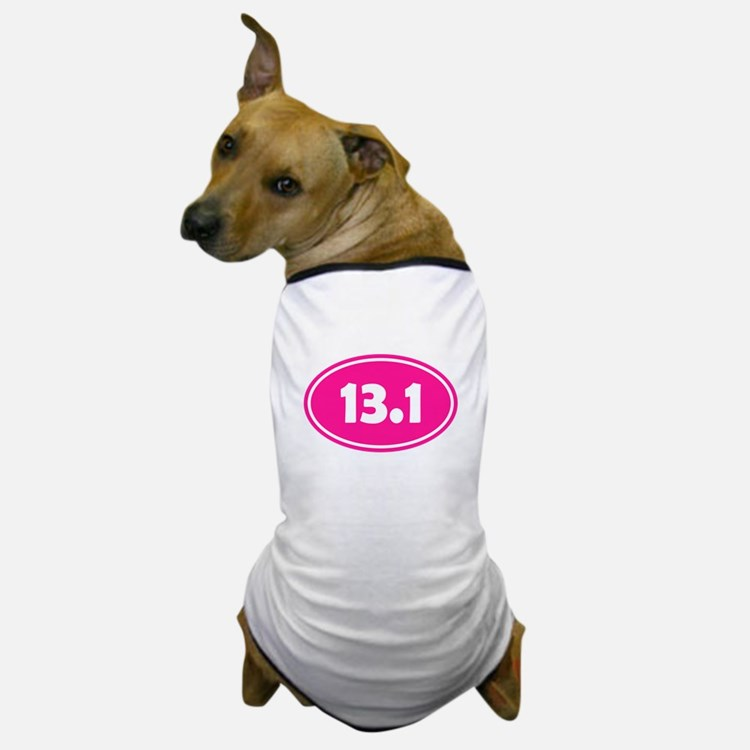 Pink 13.1 Oval Dog T-Shirt