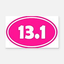 Pink 13.1 Oval Rectangle Car Magnet