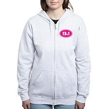 Pink 13.1 Oval Zip Hoodie