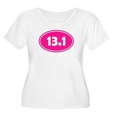 Pink 13.1 Oval Plus Size T-Shirt
