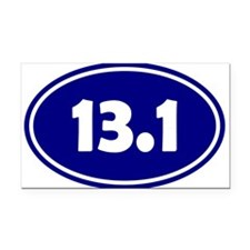Blue 13.1 Oval Rectangle Car Magnet