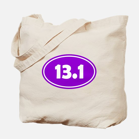 Purple 13.1 Oval Tote Bag