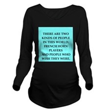 french ,horn Long Sleeve Maternity T-Shirt