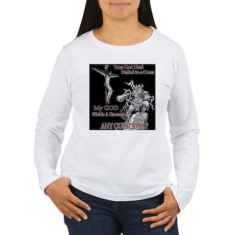 JC vs Thor Women's Long Sleeve T-Shirt