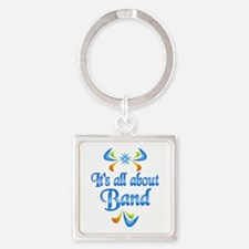 About Band Square Keychain