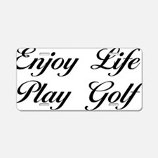 golfScB Aluminum License Plate