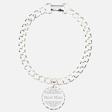 Best Man in silver Bracelet