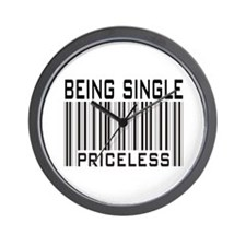 Being Single Priceless Dating Wall Clock