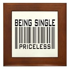 Being Single Priceless Dating Framed Tile