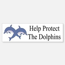 Protect The Dolphins Bumper Bumper Bumper Sticker