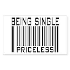 Being Single Priceless Dating Sticker (Rectangular
