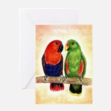 Eclectus Parrots Greeting Cards