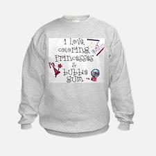 I Love Coloring Sweatshirt