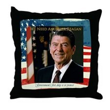 We Need Another Reagan_Sq_10x10 Throw Pillow