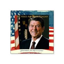 "We Need Another Reagan_Sq_1 Square Sticker 3"" x 3"""