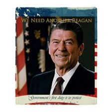 We Need Another Reagan_Sq_10x10 Throw Blanket