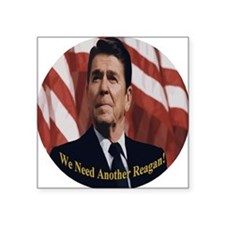 "Reagan_Round_3x3 Square Sticker 3"" x 3"""