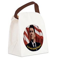 Reagan_Round_3x3 Canvas Lunch Bag