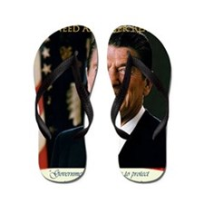 We Need Another Reagan_Sq_12x12 Flip Flops