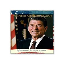 """2-We Need Another Reagan_Re Square Sticker 3"""" x 3"""""""