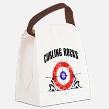 Curling -white Canvas Lunch Bag