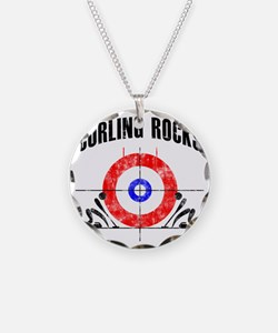 Curling -white Necklace