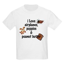 I Love Airplanes Kids T-Shirt