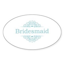 Bridesmaid in blue Decal