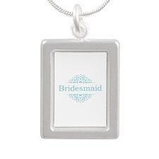 Bridesmaid in blue Necklaces