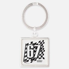flagtag67 Square Keychain