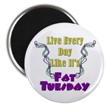 "Fat Tuesday 2.25"" Magnet (10 pack)"