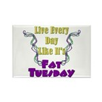 Fat Tuesday Rectangle Magnet