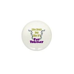 Fat Tuesday Mini Button (10 pack)