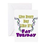 Fat Tuesday Greeting Cards (Pk of 10)