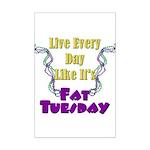 Fat Tuesday Mini Poster Print